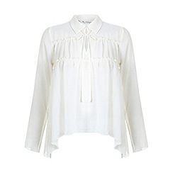 Miss Selfridge - Ivory layered front blouse
