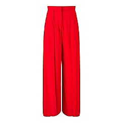 Miss Selfridge - Red split front trouser