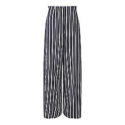 Miss Selfridge - Navy stripe wide leg