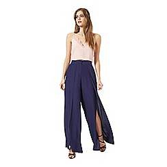 Miss Selfridge - Navy split front trouser