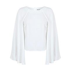 Miss Selfridge - Ivory cape back top