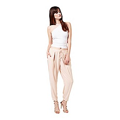 Miss Selfridge - Nude lux jogger