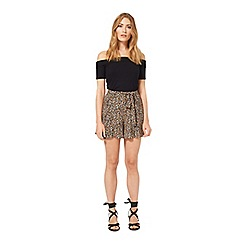 Miss Selfridge - Ditsy tie waist short