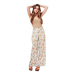 Miss Selfridge - Floral devore wide leg