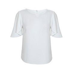 Miss Selfridge - Ivory cape blouse