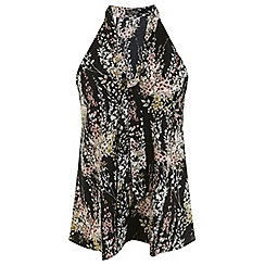 Miss Selfridge - Willow tie neck shell