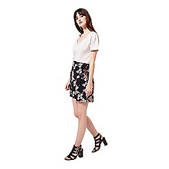 Miss Selfridge - Blossom floral wrap skirt