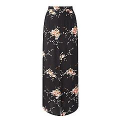 Miss Selfridge - Dark floral split maxi skirt