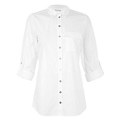 Miss Selfridge - Gold button poplin shirt