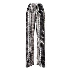 Miss Selfridge - Linear print wide leg trouser