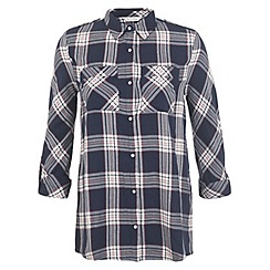 Miss Selfridge - Blue checked shirt