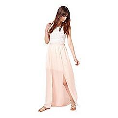 Miss Selfridge - Nude maxi skirt