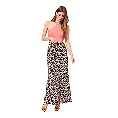 Miss Selfridge - Floral button down maxi skirt