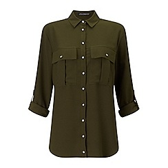 Miss Selfridge - Khaki double pocket shirt