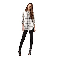 Miss Selfridge - Mono check shirt