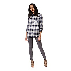 Miss Selfridge - Blue check shirt