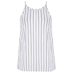 Miss Selfridge - White pinstripe high neck