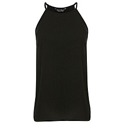 Miss Selfridge - Black high neck cami