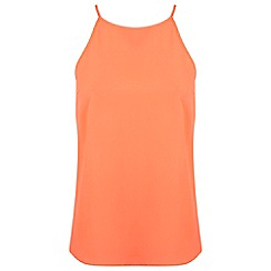 Miss Selfridge - Neon pink high neck cami
