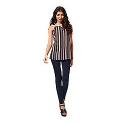 Miss Selfridge - Navy vari stripe cami