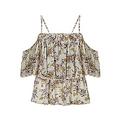 Miss Selfridge - Floral cold shoulder cami