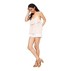 Miss Selfridge - Nude frill front cami