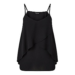 Miss Selfridge - Black frill overlay cami