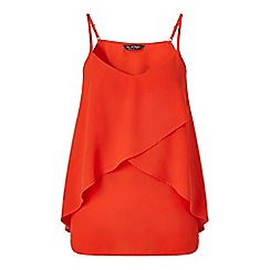 Miss Selfridge - Red frill overlay cami