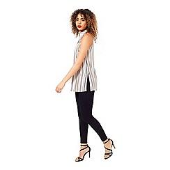 Miss Selfridge - Cream stripe tunic
