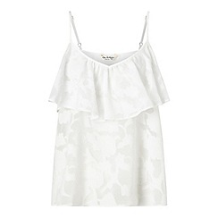 Miss Selfridge - White organza frill cami