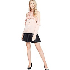 Miss Selfridge - Ruffle cold shoulder shirt