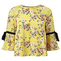Miss Selfridge - Chartreuse tie sleeve