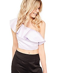 Miss Selfridge - One shoulder ruffle top