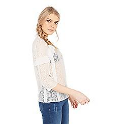 Miss Selfridge - Lace Victoriana high neck frill blouse