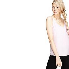 Miss Selfridge - Lilac cross back camisole top