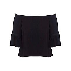 Miss Selfridge - Black 3/4 sleeve bardot