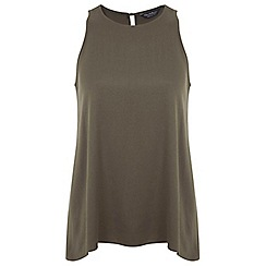 Miss Selfridge - Khaki drop back vest