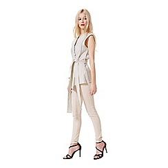 Miss Selfridge - Jacquard tie waist jacket