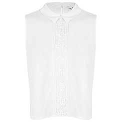 Miss Selfridge - Lace collar shell top