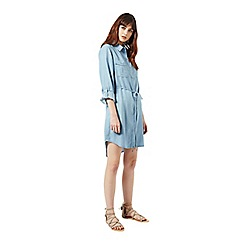 Miss Selfridge - Bleach sleeved denim dress
