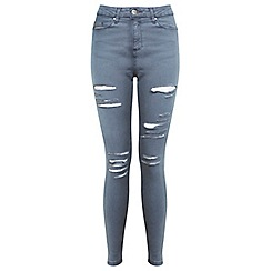 Miss Selfridge - Grey lizzie multirip jean