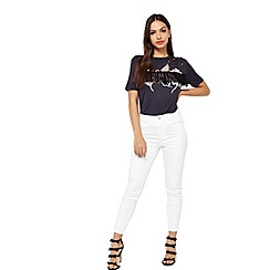 Miss Selfridge - White plain lizzie jeans