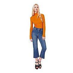 Miss Selfridge - Cropped kickflare jean