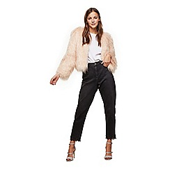 Miss Selfridge - Black lace mom jeans