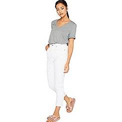 Miss Selfridge - White mom jeans