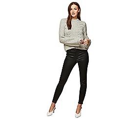 Miss Selfridge - Black shine lizzie jeans
