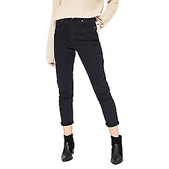 Miss Selfridge - Black wash mom jean