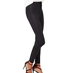 Miss Selfridge - R steffi black coated jean