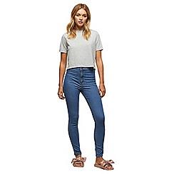 Miss Selfridge - Mid blue steffi jeans