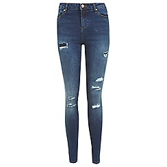 Miss Selfridge - Dark rip repair jean